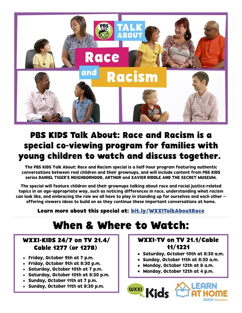 PBS KIDS Special Talks About  Race and Racism