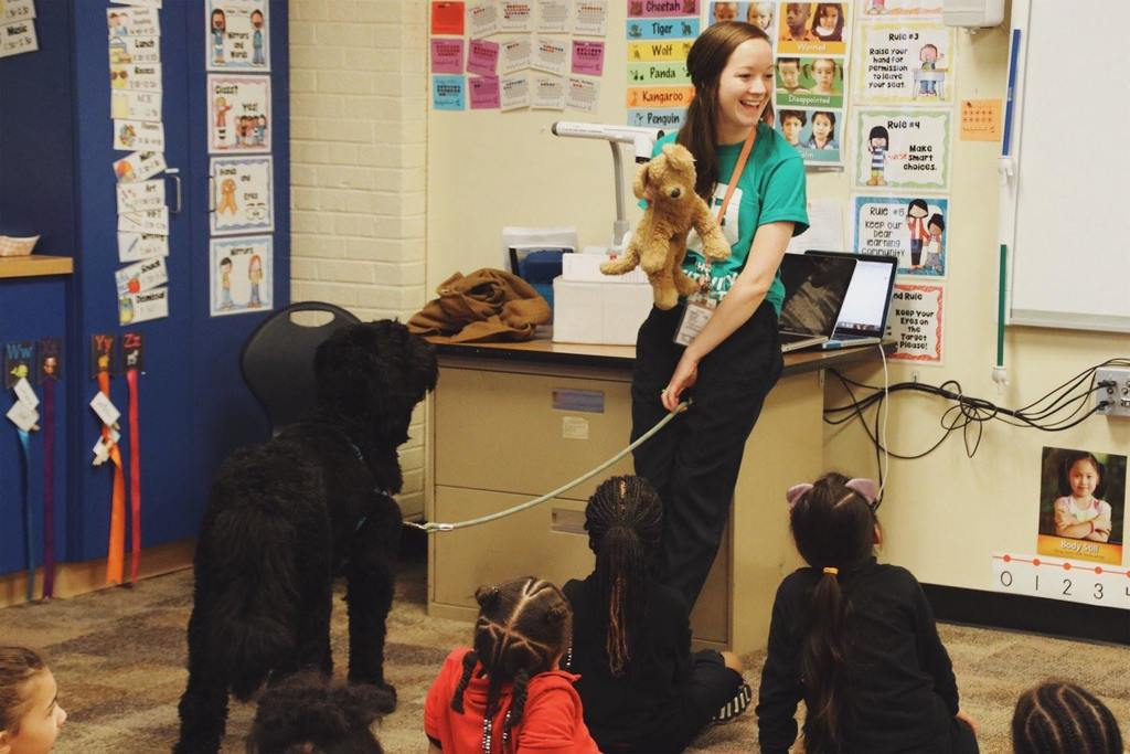 teacher with pupperinos