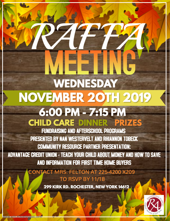 RAFFA Meeting Flyer 11/20/19