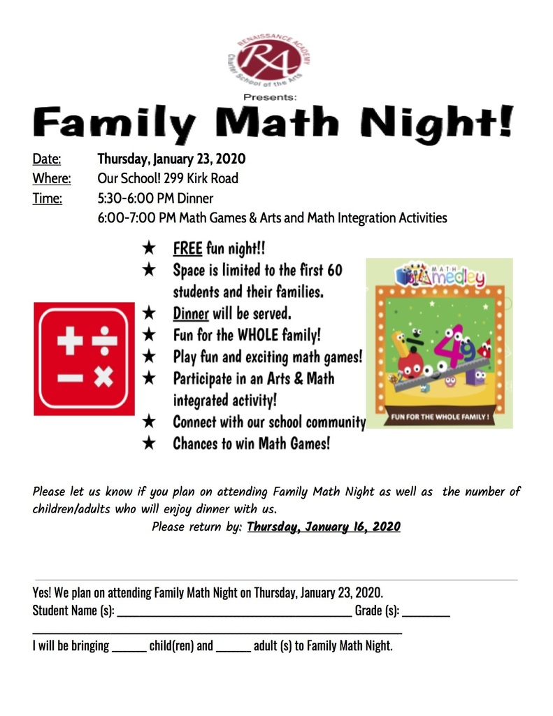 Family Math Night 2020