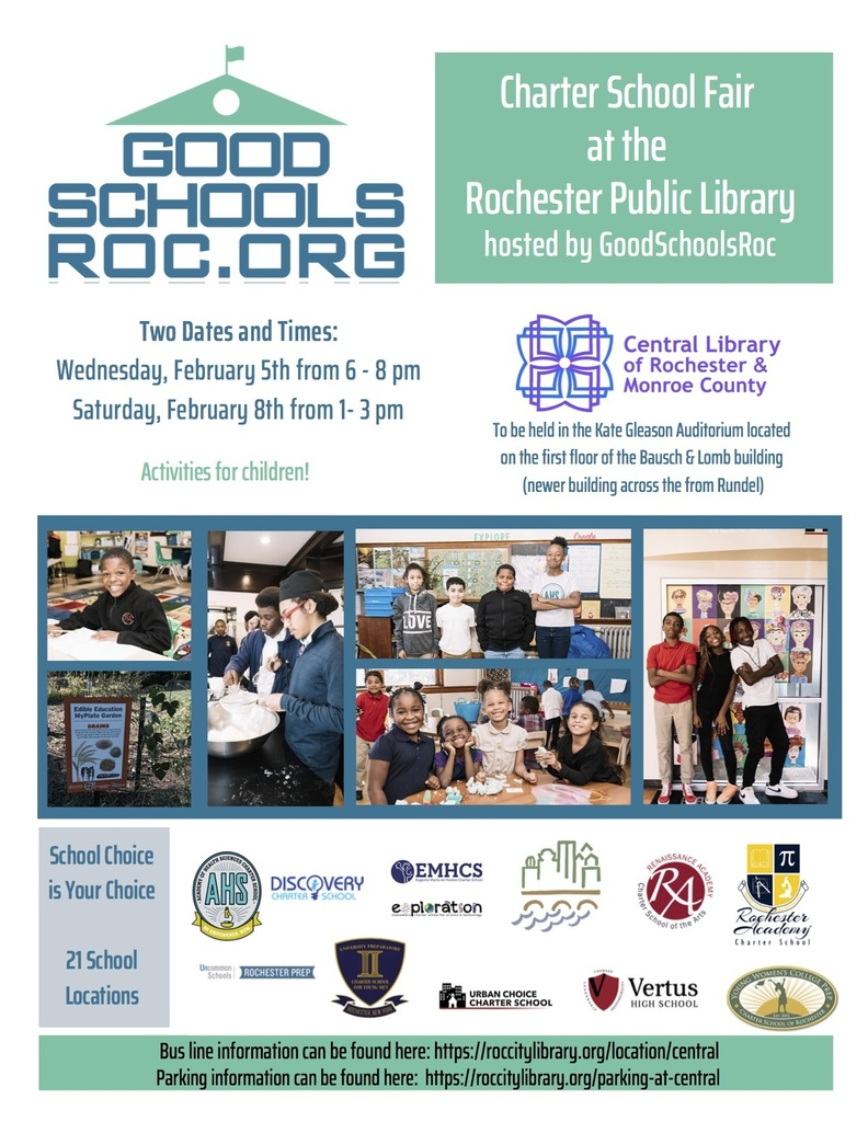 GoodSchoolsRoc Charter School Fair Flyer