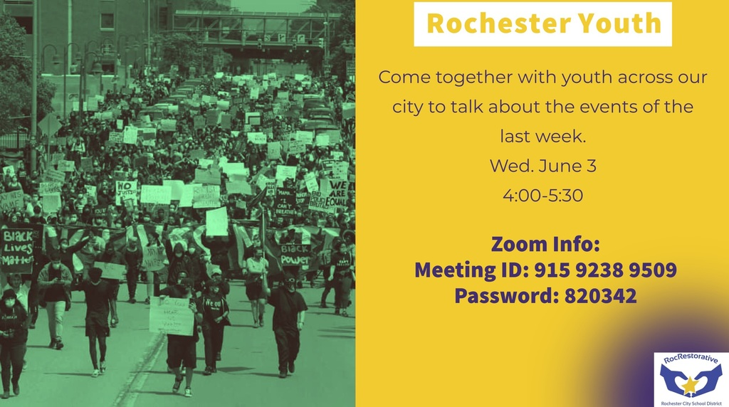 Rochester Youth Zoom Meeting